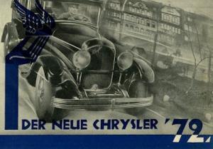 Chrysler 72 Prospekt ca. 1927