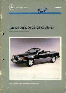 Mercedes-Benz 300 CE-24 Cabriolet Reparaturanleitung 1992