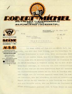 Selve / Robert Michel Brief 1927