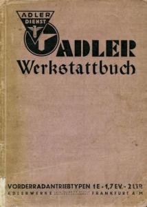 Adler Vorderradantrieb-Wagen Werkstattbuch 1939
