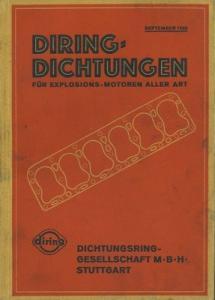 Diring Dichtungen für Explosions-Motoren aller Art Sept. 1928