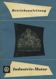 VW Industrie Motor Bedienungsanleitung 8.1956