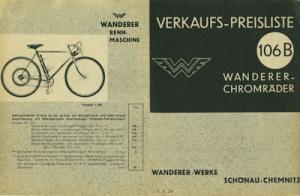 Wanderer Fahrrad Preisliste 4.1934