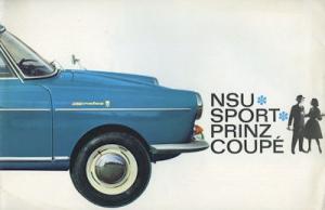 NSU Sport Prinz Coupe Prospekt 6.1962 f