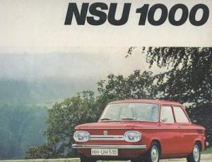 NSU Prinz 1000 Prospekt 10.1968