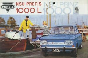 NSU Pretis Prinz 1000 L Prospekt 11.1964 Jug.