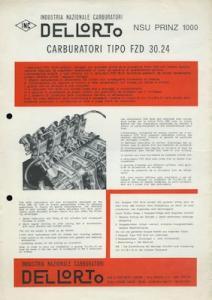 NSU Prinz 1000 Dellorto Vergaser 1960er Jahre it