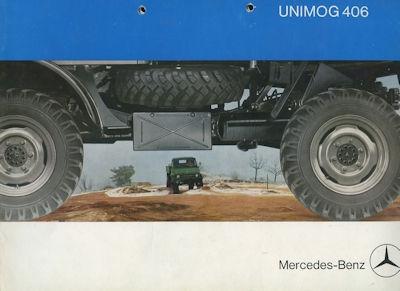 Mercedes-Benz Unimog 406 Prospekt 10.1965 Nr. MB-Uni660 ...