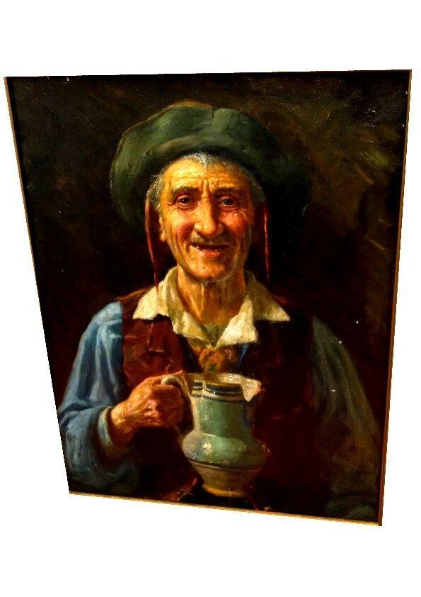 Ölbild,Portrait,italienischer Fischer,Prunkrahmen,19.Jhdt. 2