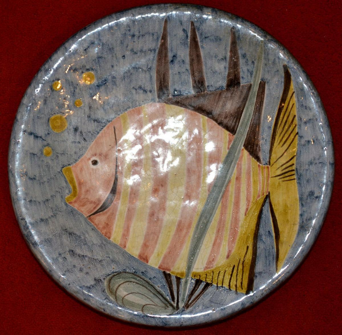 Keramikteller,Wand, Werkstätte Drewes-Zimmermann Schüler v. Feininger,Bauhaus 0