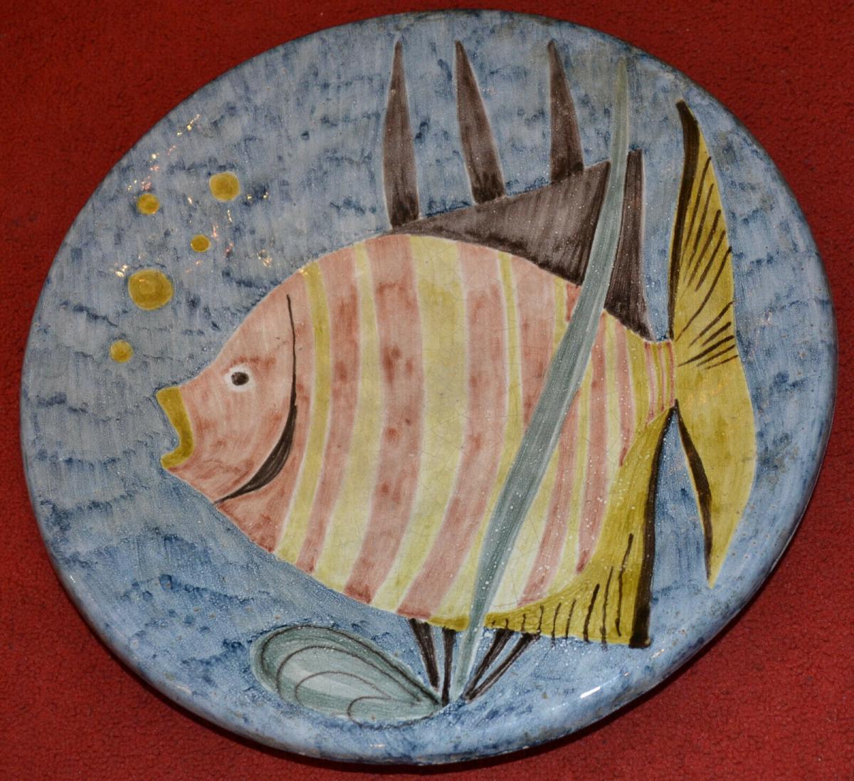 Keramikteller,Wand, Werkstätte Drewes-Zimmermann Schüler v. Feininger,Bauhaus 1