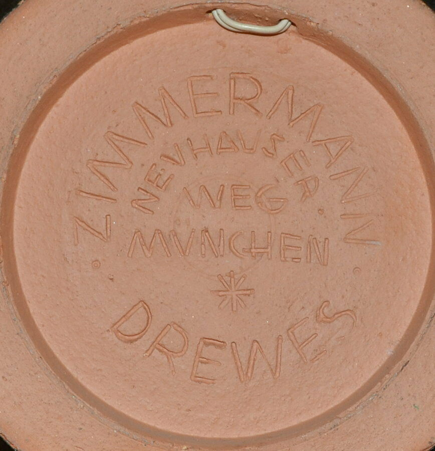 Keramikteller,Wand, Werkstätte Drewes-Zimmermann Schüler v. Feininger,Bauhaus 3