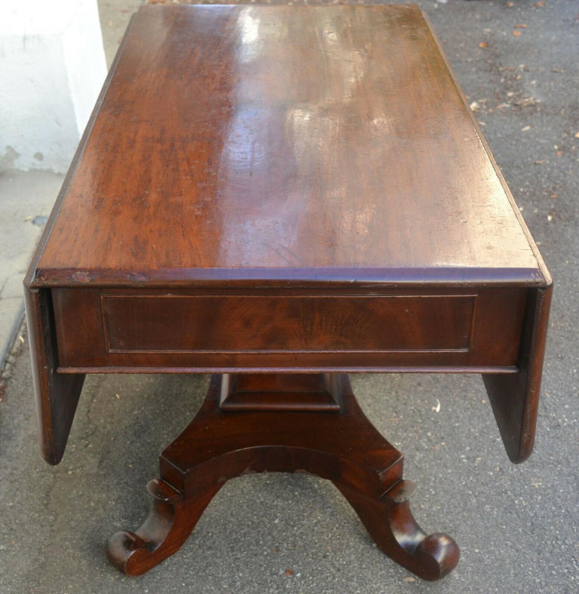 Mobiliar,Tisch,Georgian Drop Leaf Table,Mahagoni,um 1800, 3