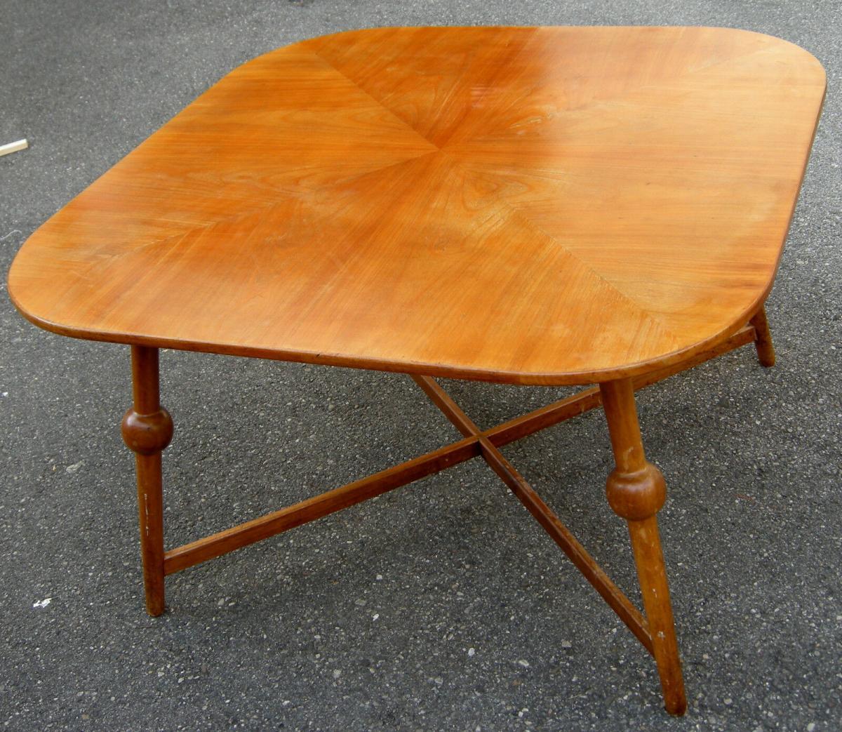Tisch,Designer-Tisch,groß,wohl,Kirschbaum,1950, 0