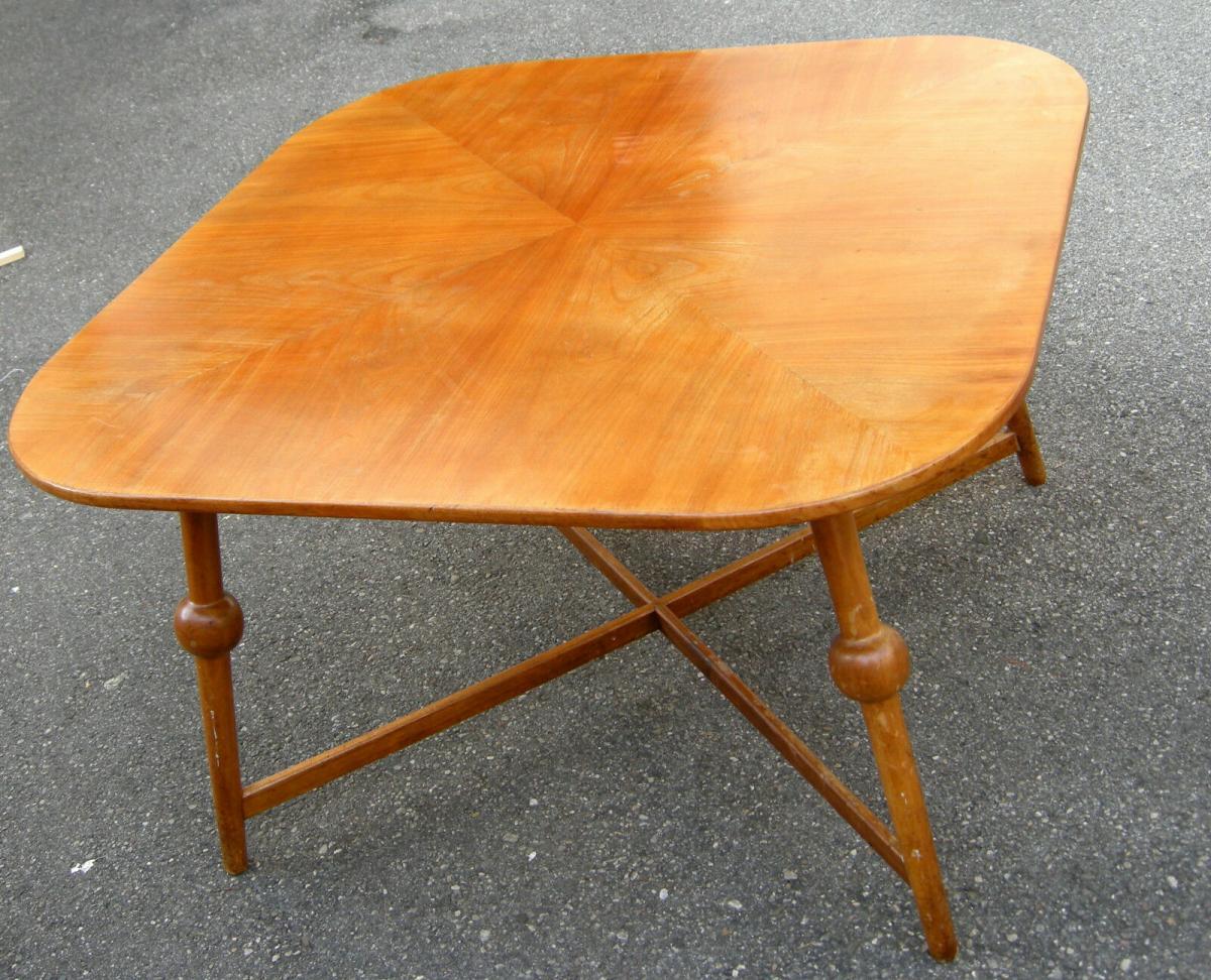Tisch,Designer-Tisch,groß,wohl,Kirschbaum,1950, 1