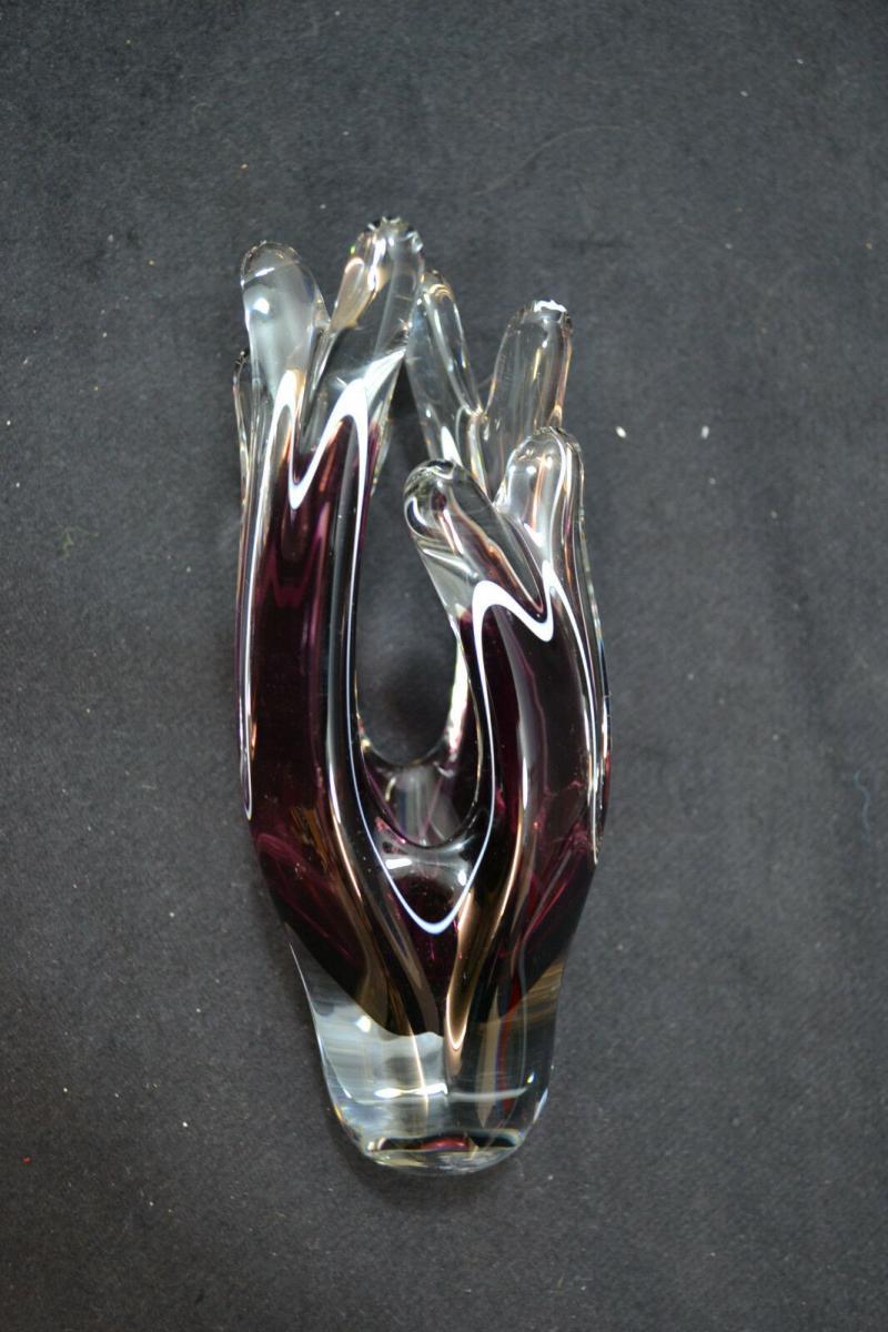 Vase, Kristallglas, Murano, Italien etwa 1950-60 2