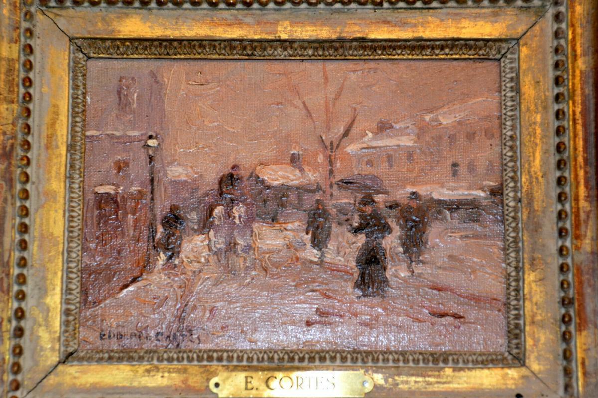 Ölbild,Winter in Paris, Eduardo Cortes,signiert,1882-1969,Impressionist,gerahmt 1