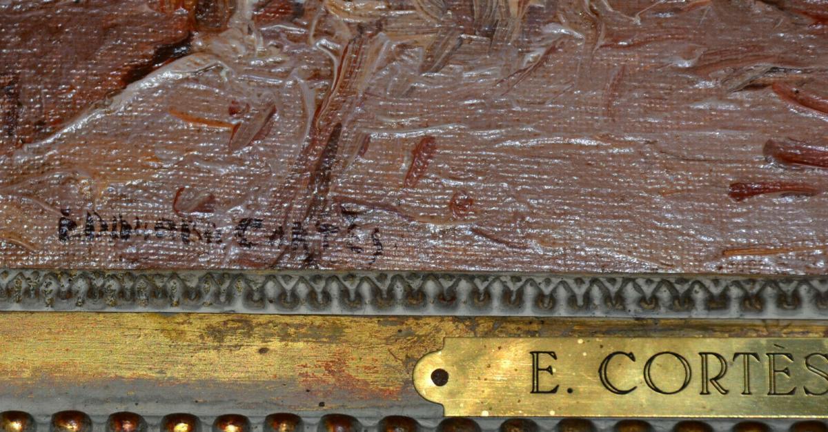 Ölbild,Winter in Paris, Eduardo Cortes,signiert,1882-1969,Impressionist,gerahmt 4