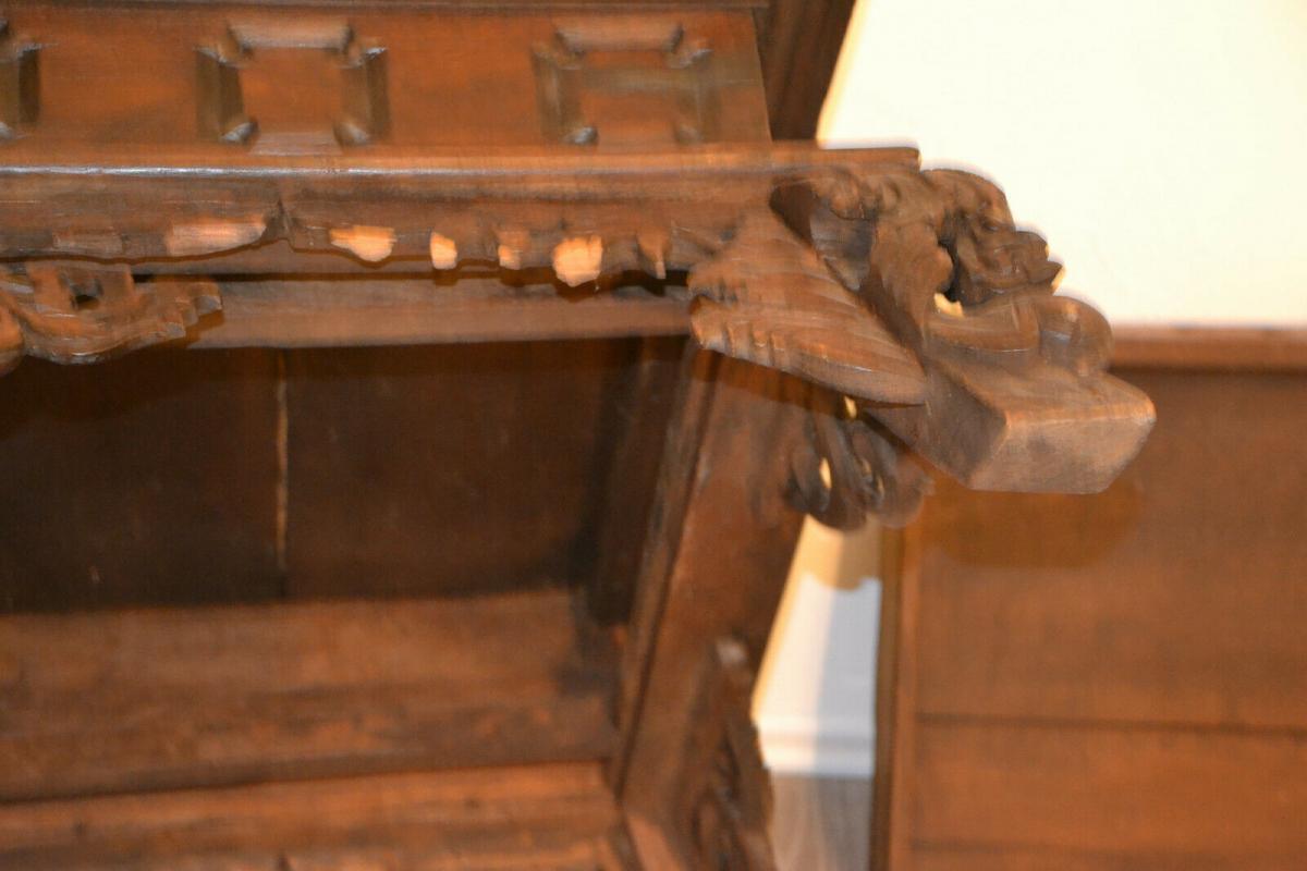 Möbel,kleiner Beistelltisch,deutsch, Eiche,um 1900,leichte Beschädigungen 6