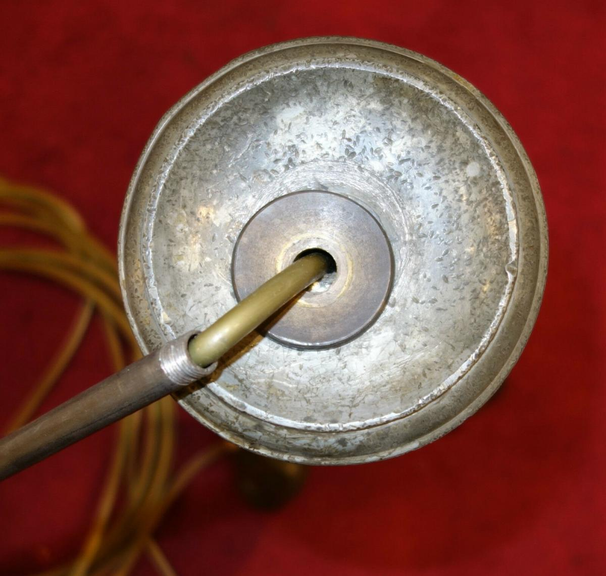 Stehlampe,Barockstil ,Zinn,aus altem Zinnkerzenleuchter gefertigt 3