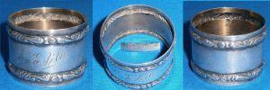Serviettenring  aus 800 Silber mit Monogramm Edith
