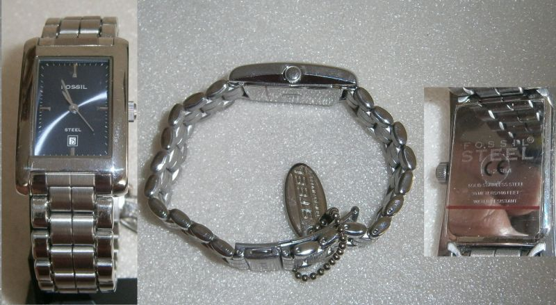 Fossil-Armbanduhr neuwertig