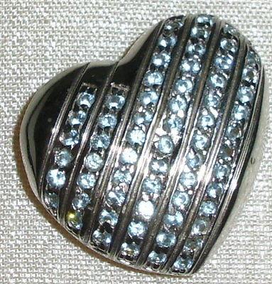Herz-Anhänger aus 925 Silber mit blauen Steinen neuwertig aus Geschäftsauflösung