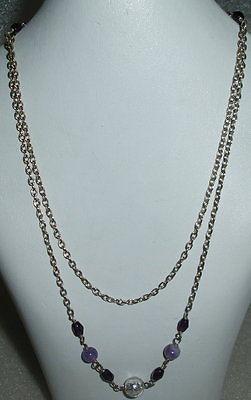 Kette aus Silber mit amethystfarbenen Steinen neuwertig aus Geschäftsauflösung