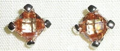 Ohrringe aus 925 Silber mit Champagnerkristall neuwertig aus Geschäftsauflösung