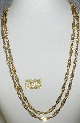 Kette aus 333er Gold  sehr fein gedreht, neuwertig (da2572)