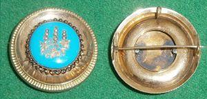 Tolle Biedermeier-Brosche aus 585 Gold