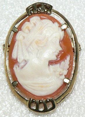 Brosche aus 333er Gold mit Gemme, 4,65 Gramm, neuwertig (da2652)