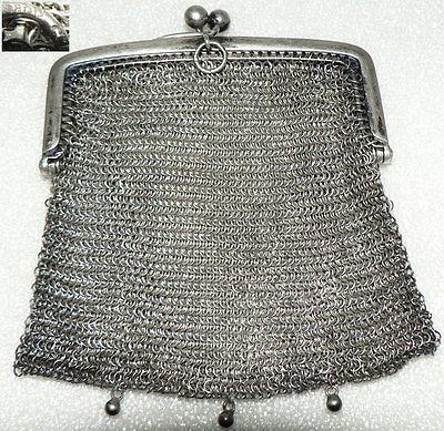 Gründerzeit Geldbörse aus 800er Silber (da2815)