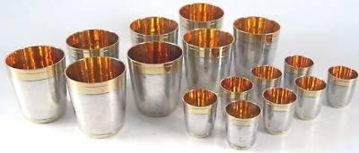 16 hochwertige Trinkbecher in 925 er Silber von BAHR 0