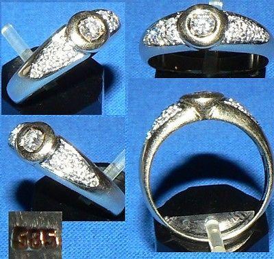 Ring 585 Gold m.  Brillant 0,3 ct.