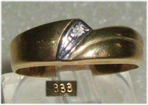 Ring aus 333er Gold mit Zirkonia  Gr. 54 Ø 17,2 mm neuwertig  (da3208)