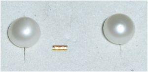 Sehr feine Ohrringe aus 333er Gold mit Zuchtperlen (da3209)