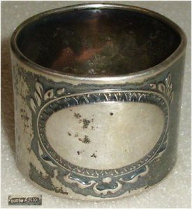 antiker Serviettenring aus 800er Silber  (da3212)