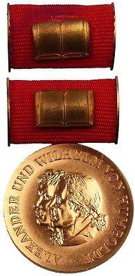 DDR Humboldt Medaille in Bronze von 2. Variante 1975-1990 verliehen (AH270b)