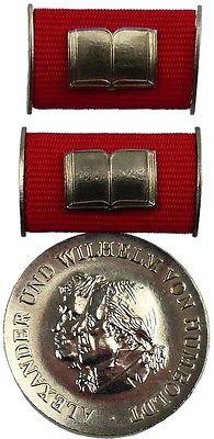 DDR Humboldt Medaille in Silber von 2. Variante 1975-1990 verliehen (AH269b)