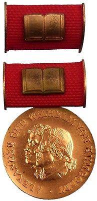 DDR Humboldt Medaille in Bronze von 1. Variante 1975-1990 verliehen (AH270a)
