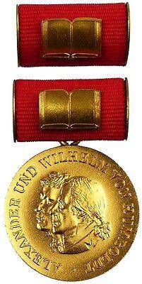 DDR Humboldt Medaille in Gold von 1. Variante 1975-1990 verliehen (AH268a)