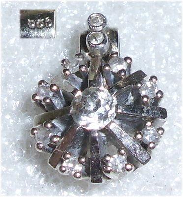 Anhänger 585er Weißgold  mit Diamanten 1 x 0,2 ct. und 10 x 0,02 ct.  (da3343)