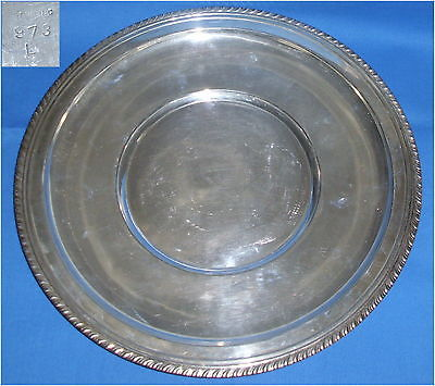 Toller alter Platzteller aus 925er Sterling-Silber 436 Gramm (da3428)