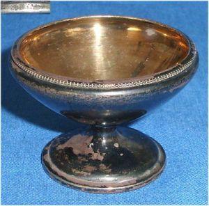 Toller alter Salznapf  aus 800er Silber (da3485)