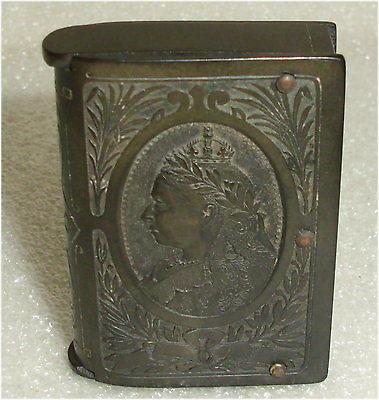 alte Streicholzhalter/Streicholzschachtel, Königin Viktoria von England (da3491)