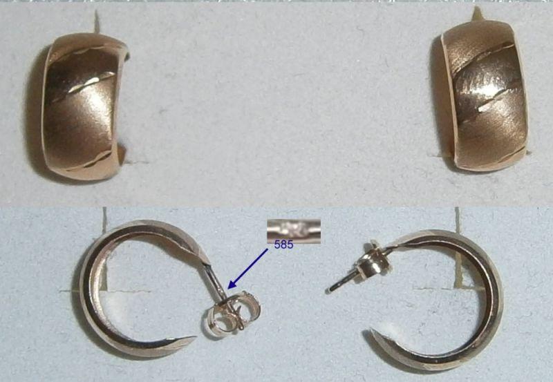 Tolle Ohrringe aus 585 Gold
