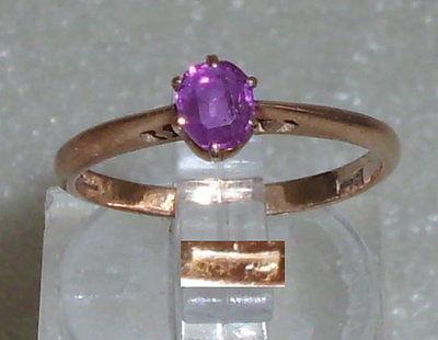 Ring aus 585er Gold 14 ct. mit Rubin, Gr. 51, Ø 16,2 mm (da3522)