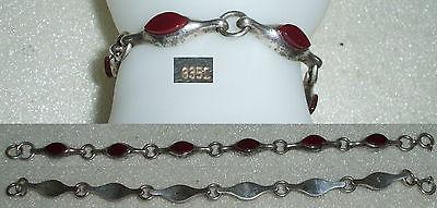 Armband aus 835er Silber mit Achate  (da3565)