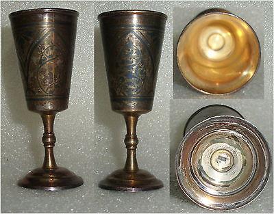 Toller alter russischer Wodka-Becher massiv Silber  (da3617)